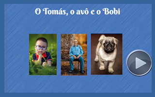 O Tomás, o avô e o Bobi
